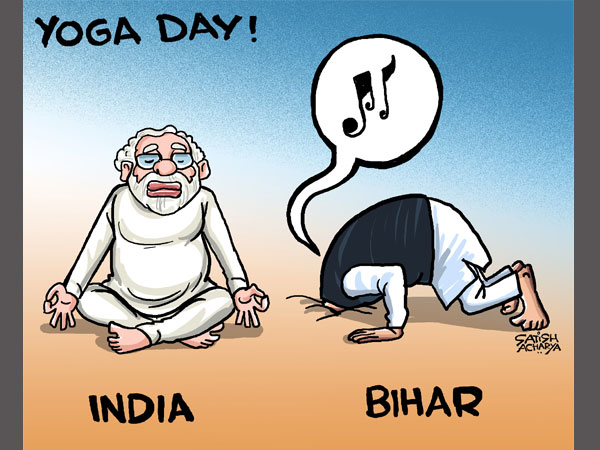 Cartoon of the Day: Bihar delves into Music, while the world practices Yoga