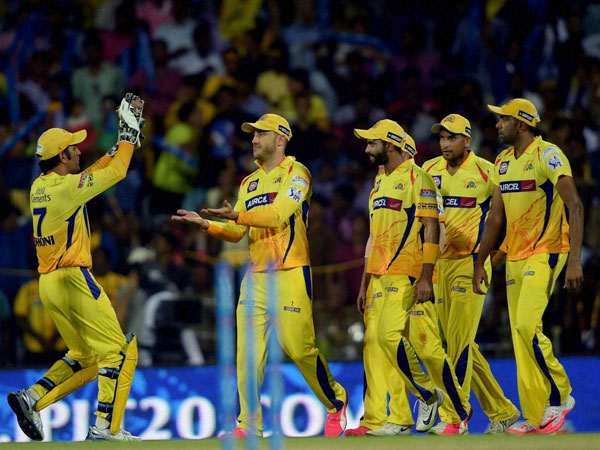 A file picture of CSK players during an IPL match