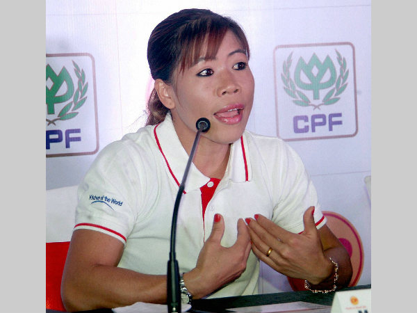 Indian boxer and CP Foods brand ambassador MC Mary Kom at the launch of CP Packaged Foods in India during a press conference in Bengaluru on Tuesday (June 7).