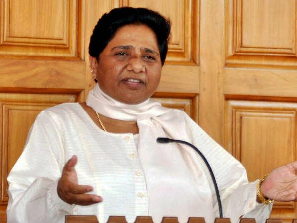 Mayawati hit outs at Modi govt