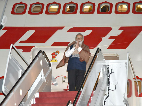 PM Modi returns home