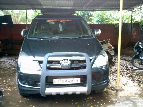 Naresh's seized car parked in Barke police station