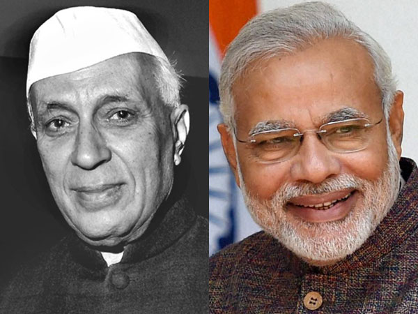 nehru and modi