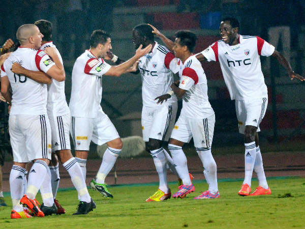 NorthEast United players celebrate during ISL 2014