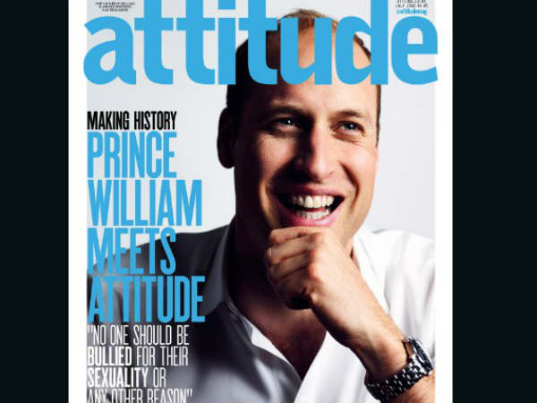 Prince William on cover of gay magazine