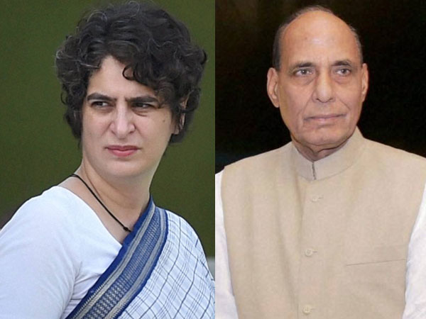 priyanka gandhi and rajnath singh