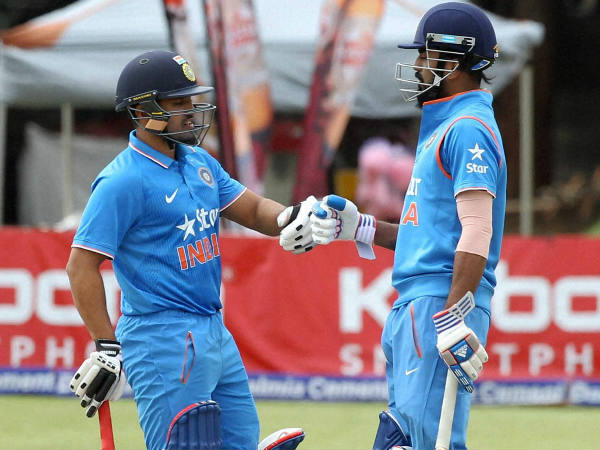 India openers KL Rahul (right) and Karun Nair during the 2nd ODI