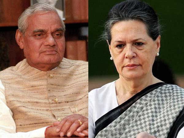 vajpayee and sonia gandhi