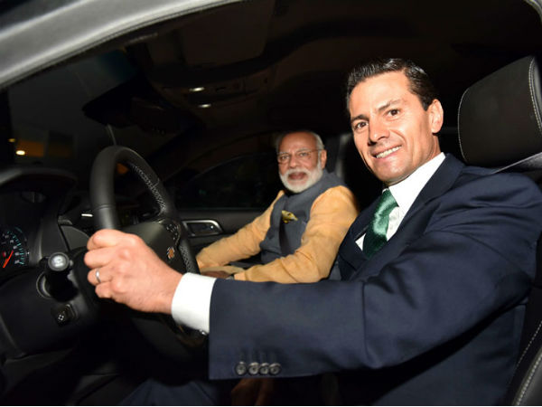 Mexican President drives PM Modi for dinner