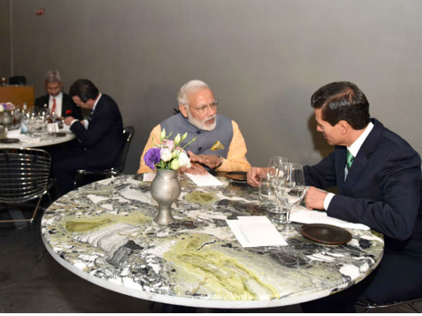 PM Modi,President Enrique share dinner at a restaurant