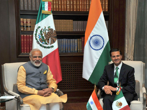 PM Modi meets President of Mexico Enrique Peaa Nieto