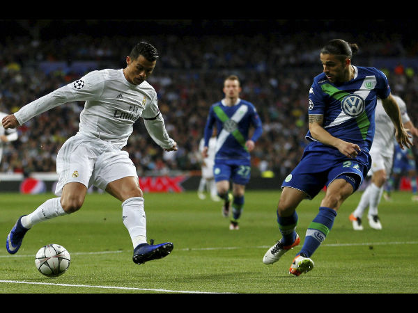Portuguese footballer Cristiano Ronaldo, who plays for Real Madrid