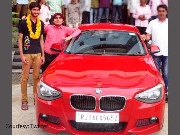 Tanmaya Shekhawat who got BMW as reward