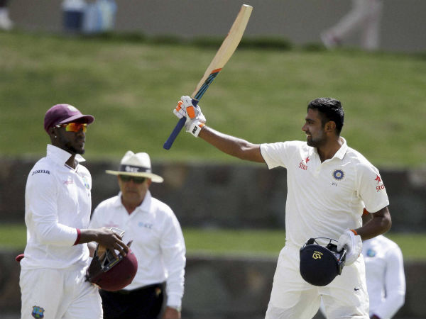 Ashwin hits 3rd ton against WI