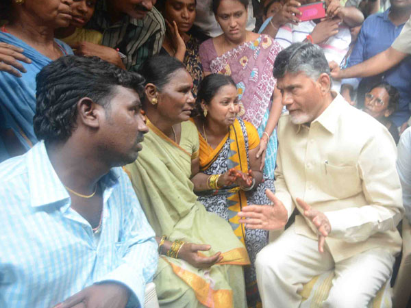 AP CM Chandrababu Naidu meets kin of missing AN-32 personnel