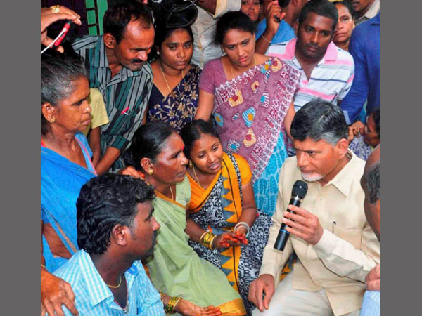 AP CM Chandrababu Naidu meets families of missing AN-32 personnel