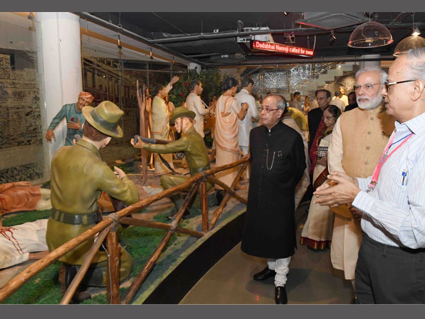 President , PM view installations in the museum
