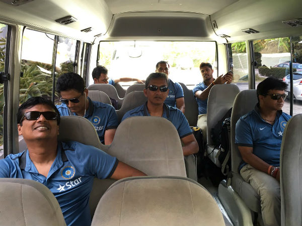 Coach Anil Kumble with support staff