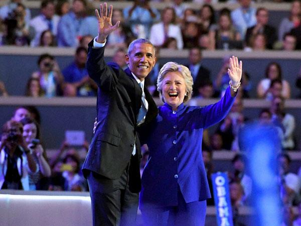 They were the rivals in the Democratic race in 2008