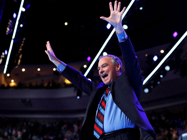 Tim Kaine, the Democratic vice-presidential candidate
