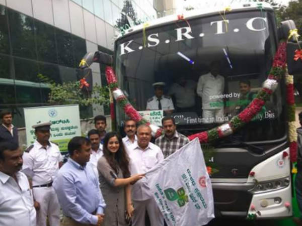 Karnataka launches India's 1st bio diesel bus