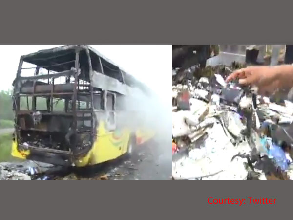 Hubli: 3 burnt alive as bus catches fire