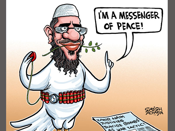 Cartoon of the Day: 'Peace' with Zakir