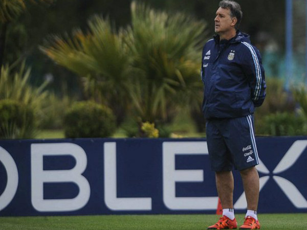 Gerardo Martino. Photo from Argentina football team's official Twitter page