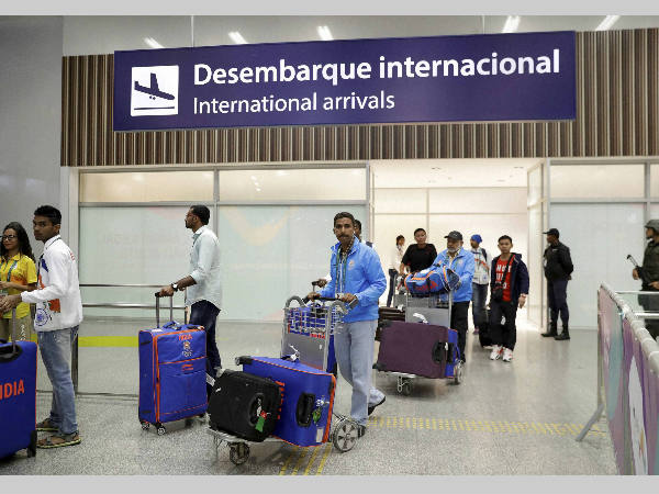Indian Olympic athletes arrive at Rio de Janeiro International Airport on Thursday, July 28