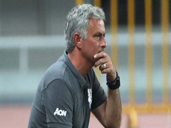 Jose Mourinho keeps an eye on Manchester United players during pre-season