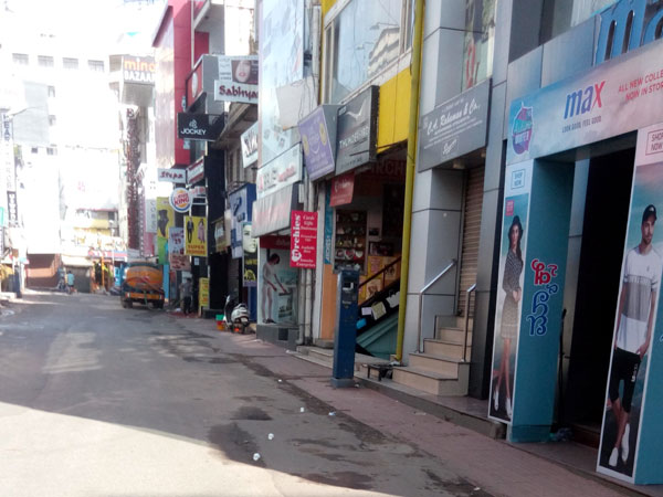 Morning hours on bandh day in Bengaluru
