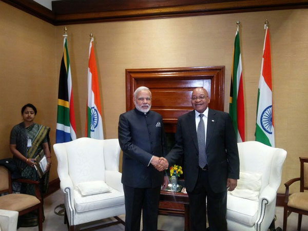 Narendra Modi and Jacob Zuma
