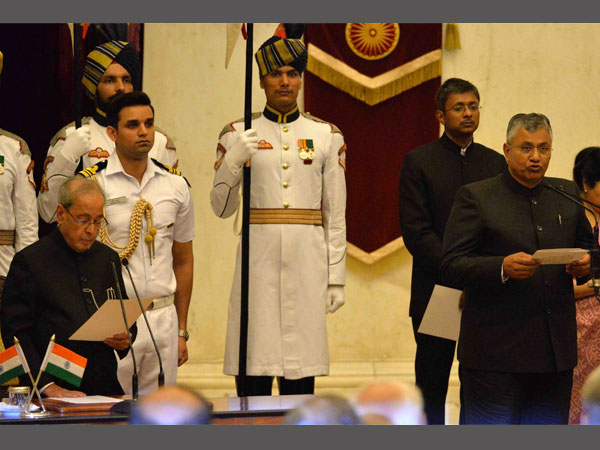 President Mukherjee administered the oath of office & secrecy to Shri P.P. Chaudhary as Minister of State