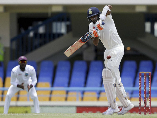 Ashwin plays a shot during the 2nd day