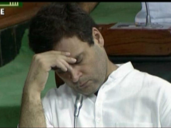 Was Rahul Gandhi sleeping in Parl?