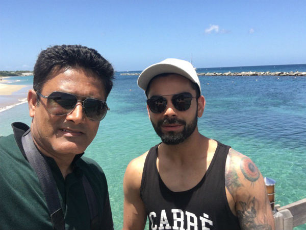 Pics: Virat Kohli & Co visit island, enjoy team session ahead of West Indies Test series