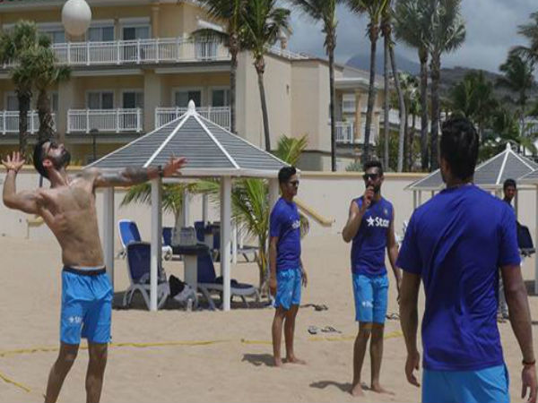 Virat Kohli & Co play beach volleyball in Caribbean ahead of warm-up match