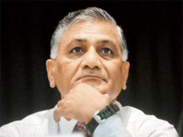 Minister of State for External Affairs VK Singh