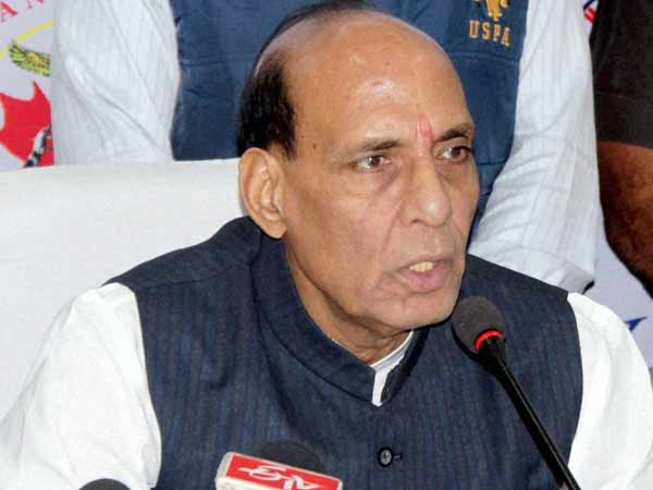 Rajnath Singh appeals for Kashmir peace, tells Pakistan to behave.
