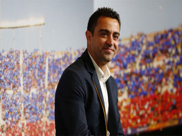 Xavi Hernandez at an event in Barcelona
