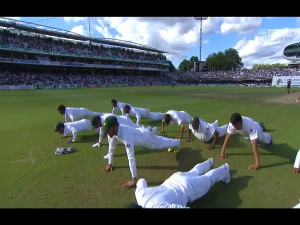 Watch: Pakistan cricketers doing push-ups to celebrate historic win against England at Lord's