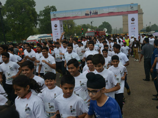 India's first multi-city marathon, the Great India Run, flagged off