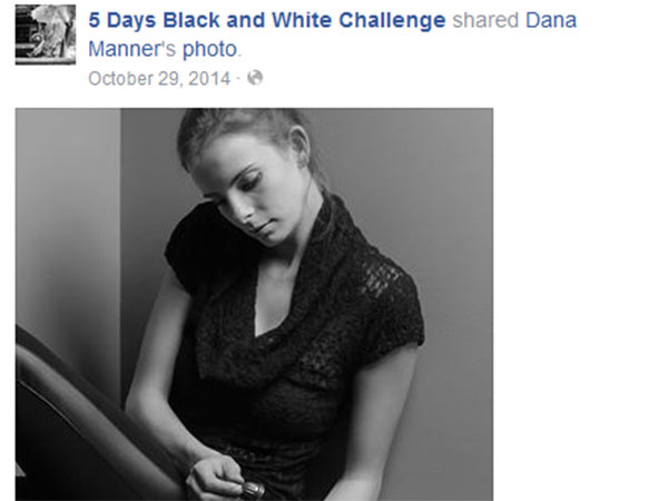 Black and white photographs challenge friends bond over facebook challenges
