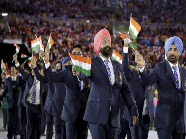 Indian contingent at Rio Olympics opening ceremony