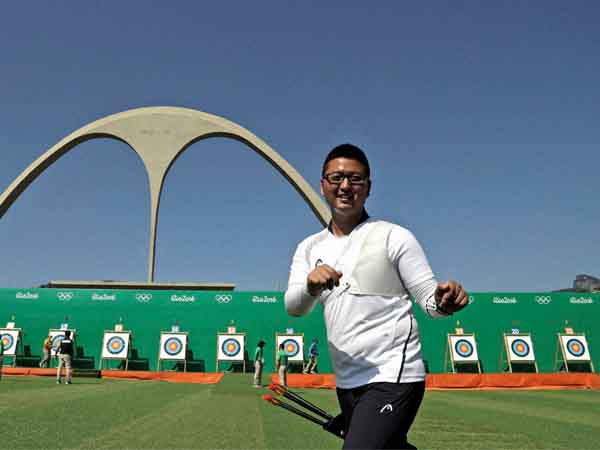 South Korea nearly flawless in team archery, beats US