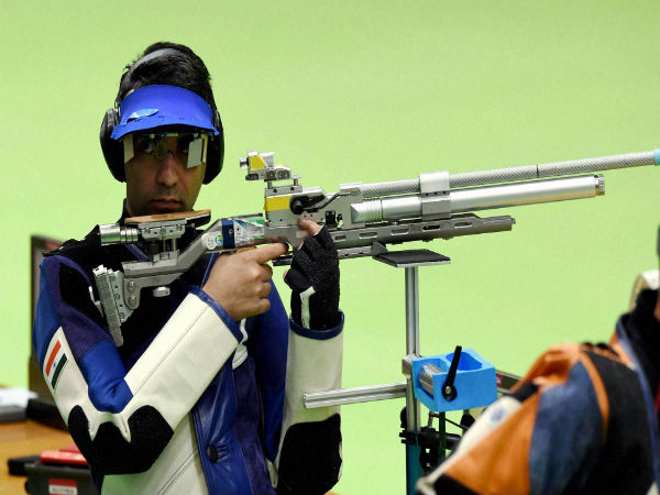 Abhinav Bindra during a practice session at the 2016 Summer Olympics in Rio de Janeiro