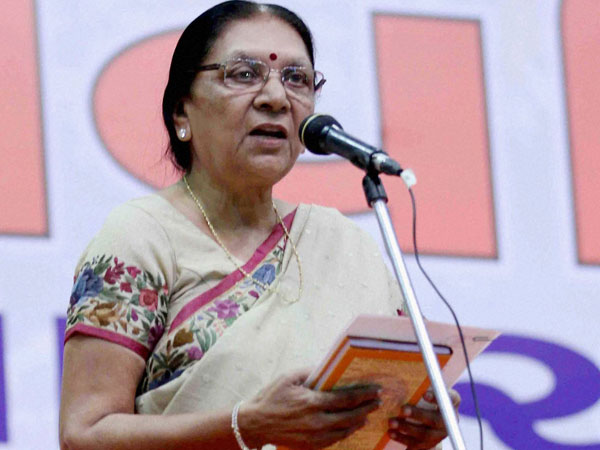 File photo of Madhya Pradesh Governor Anandiben Patel