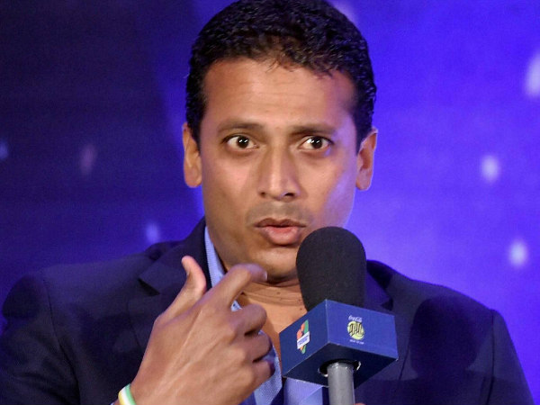 Mahesh Bhupathi addresses the media at ITPL press conference