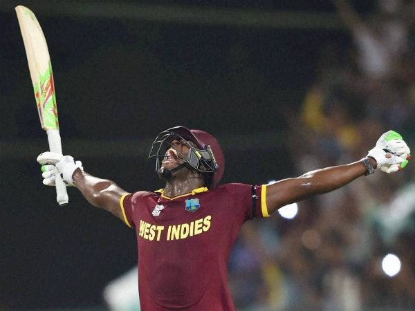 Carlos Brathwaite exults after winning World T20 with 4 sixes in a row