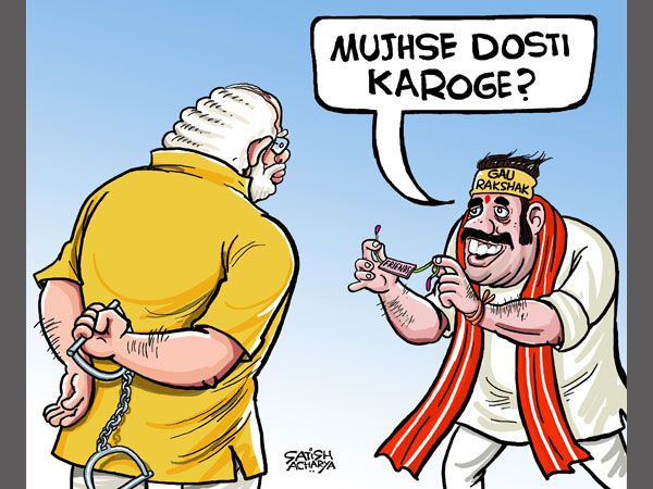 Cartoon: Will PM Modi and 'Gau Rakshaks' be on the same page?